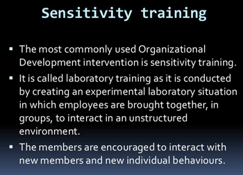 sensitivity-training